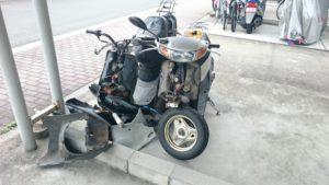 欠品、分解バイク