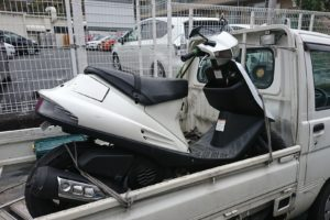 横浜市南区バイク処分、アドレスV100